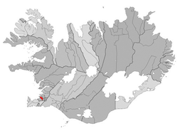 Location o the Municipality o Garðabær