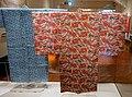 Garment with peony design in bingata stencil dyeing, 2 of 2, Okinawa Main Island, Second Sho dynasty, Ryukyu kingdom, 1800s AD, cotton - Tokyo National Museu- Tokyo National Museum - Tokyo, Japan - DSC09143.jpg