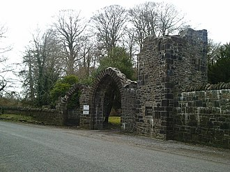 Dunsany Castle and Demesne - Dunsany Castle entrance. Across from the pilgrim cross.