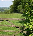 Gate at end of Fisher's Wood. - geograph.org.uk - 1333901.jpg