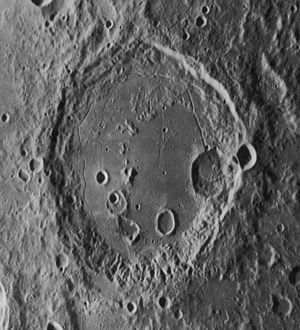 Gauss (crater) - Oblique Lunar Orbiter 4 image