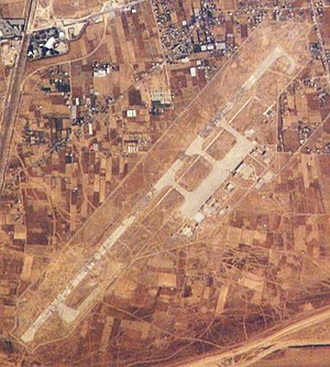 Yasser Arafat International Airport - 2008 satellite photo of the runway