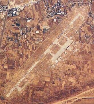 Yasser Arafat International Airport - 2008 satellite photo of the runway
