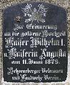 Gedenktafel Hauptstr 46 (Schö) Wilhelm I (Deutsches Reich).jpg