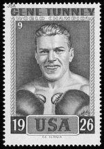 Stamp honoring Tunney