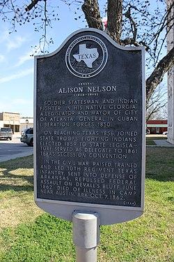 Photo of Allison Nelson black plaque