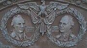 General John Sullivan and General James Clinton Plaque Detail