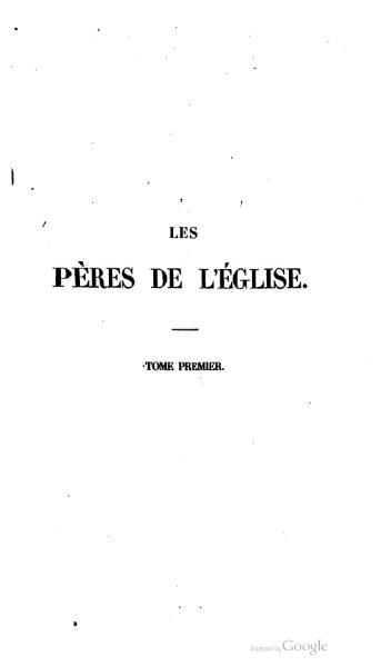 File:Genoude - Les Pères de l'Eglise, vol. 1.djvu