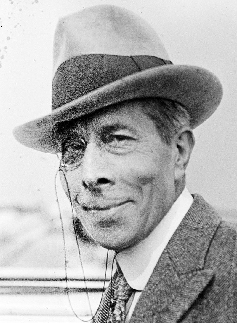 George Arliss with monocle