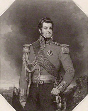 Richard Austin Artlett - George FitzClarence, 1st Earl of Munster, 1839 engraving by Artlett