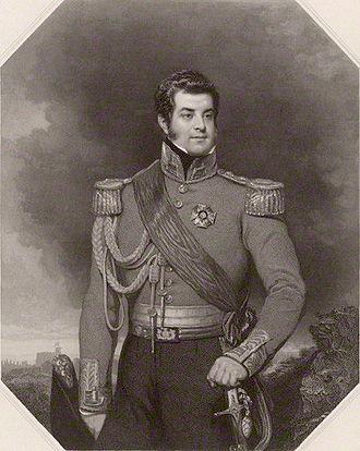 Richard Austin Artlett - George FitzClarence, 1st Earl of Munster, 1839 engraving by Artlett