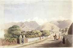 George Henry Burgess - 'Upper Fort Street, Honolulu', watercolor over pencil, 1867, Honolulu Academy of Arts.jpg