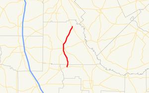 Georgia State Route 233 - Image: Georgia state route 233 map