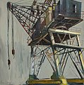 Gerard Byrne Lever crane Grand canal basin Dublin Ireland August 2013 oil on canvas.jpg