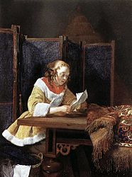 Gerard Terborch - A Lady Reading a Letter.JPG