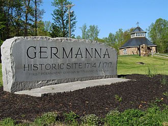 Germanna - Sign at the Germanna Visitor Center
