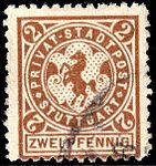 Germany Stuttgart 1890-99 local stamp 2pf - 12a used.jpg