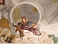 Giambattista tiepolo, merito tra nobiltà e virtù, 1758, tra quadrature di g. mengozzi colonna 09.jpg