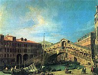 Giovanni Antonio Canal, il Canaletto - Grand Canal - The Rialto Bridge from the South - WGA03866.jpg
