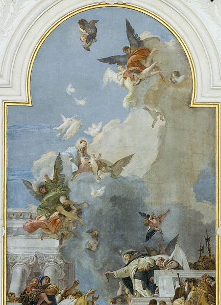 [peinture] Vos oeuvres préférées - Page 2 433px-Giovanni_Battista_Tiepolo_-_The_Institution_of_the_Rosary_%28detail%29_-_WGA22276