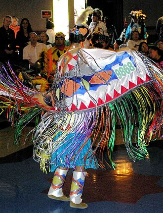 Pow wow - Girls' shawl dance, Montana, 2007