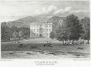 Marmaduke Gwynne - Glanbran, Carmarthenshire. This house was built by Marmaduke's brother Roderick Gwynne