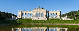 Schönbrunn Palace - The Gloriette in the gardens