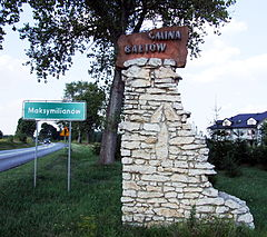Gmina Baltow welcome sign 20100822.jpg