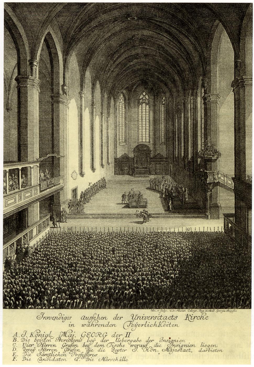 Goettingen - Innenansicht Paulinerkirche (1748)
