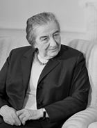 Prime Minister Golda Meir, who resigned following the Yom Kippur War