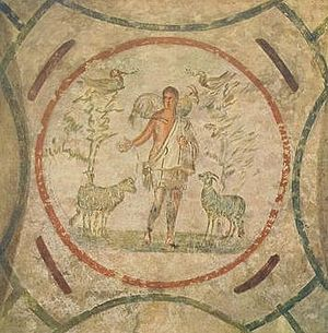 Catacomb of Priscilla - Image: Good Shepherd Catacomb of Priscilla