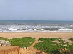 A beach in Gopalpur, on the coast of Ganjam district