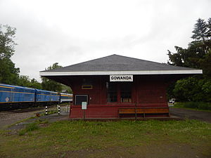 New York and Lake Erie Railroad - Image: Gowanda Station May 2015