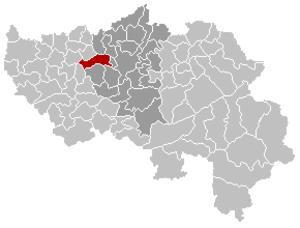 Grâce-Hollogne - Image: Grâce Hollogne Liège Belgium Map