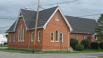 National Register of Historic Places listings in Crawford County, Ohio - Image: Grace ECUSA in Galion