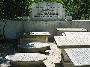 Balyan family - Graves of the Balyan family in the Armenian cemetery on Nuh Kuyusu Caddesi, Bağlarbaşı, Üsküdar, Istanbul.
