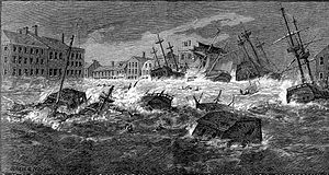 1815 New England hurricane - Image: Great Storm of 1815 engraving