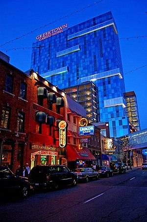 Greektown, Detroit - Greektown at night