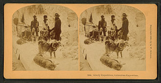 Adolphus Greely - Stereoscopic image of the Greely expedition exhibition at the Columbian Exposition, 1893