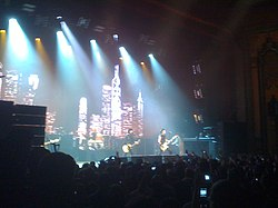 Green Day performing live at The Fox Theater.