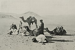 Group of Arabs and Camels in the Desert Near the Pyramids of Gizeh. (1911) - TIMEA.jpg