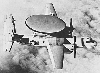 Northrop Grumman E-2 Hawkeye - A Grumman E-2A Hawkeye in flight in the early 1960s.