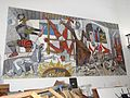 Guernica-Style Painting Showing Religious Repression of Indians - Ex-Templo de San Jose - Campeche - Mexico - 01.jpg