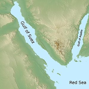 Gulf of Aqaba - The Sinai Peninsula with the Gulf of Aqaba to the east and the Gulf of Suez to the west
