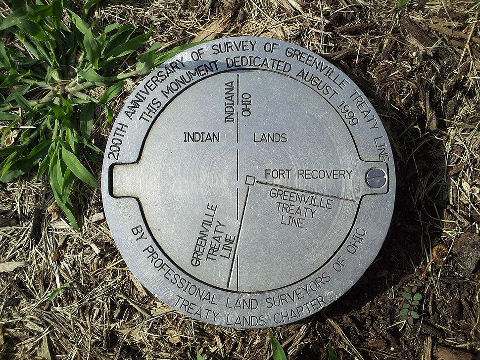 Gville Treaty Line marker