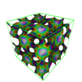 Gyroid surface with Gaussian curvature.png