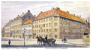 Vester Voldgade - Håndværkerstiftelsen's building on the corner of Vester Voldgade and Ny Kongensgade, 1900