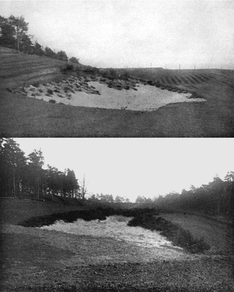 Harry Colt - Two Bunkers by H. S. Colt, representing the then-new natural style, 1914