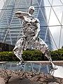 HK 中環 Central 交易廣場 Exchange Square sculpture fighting silver men January 2020 SS2 03.jpg