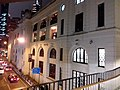 HK Central night 舊中區警署 Ex-Central Police Station 奧卑利街 Old Bailey Street footbridge 荷李活道 Hollywood Road October 2018 SSG 13.jpg